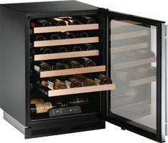 """U-line 1175WCS00: Stainless Field reversible 1000 Series / 24"""" Wine Captain  / Signature Triple Temperature Zone Design by U-Line. $1629.00. The Right Temperature for the Right Wine Top: 52 - 60(degree)F red wines Middle: Set Point 46- 54(degree)F white wines Bottom: 40 - 48(degree)F sparkling wines U-Line is the first manufacturer in North America to develop a residential wine preservation unit."""