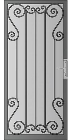 Security Screen Doors : Great Gates and Whiting Iron in Phoenix AZ Door Gate Design, Front Door Design, Steel Gate, Steel Doors, Burglar Bars, Metal Garden Gates, Window Grill Design, Metal Stairs, Wrought Iron Gates