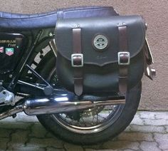 Tom Bros Italian Made Saddlebags and Mounts for the Triumph Bonneville, T100, SE, Black, Thruxton and Scrambler