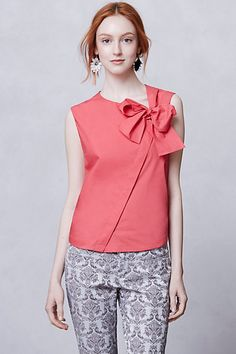 Bow Front Summer Blouse - Anthropologie