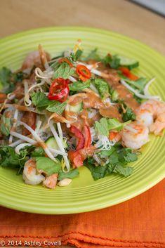 Vietnamese Summer Roll Salad with Peanut Dressing