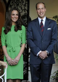 Kate Middleton is stunning and LUSTING in this emerald green dress!  She is always modest. I love it. She shows that you can be beautiful without showing everything.
