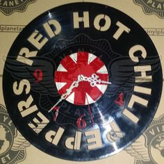 25,50 € Horloge vinyle décoration red hot chilli peppers RHCP