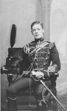 Churchill in the dress uniform of the 4th Queen's Own Hussars
