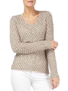 Pullover mit strukturiertem Maschenbild | FASHION ID Online Shop