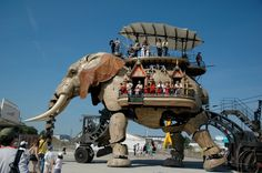Nantes, France  (This mechanical elephant is part of The Machines of the Isle of Nantes (Les Machines de l'île) which is an artistic, touristic and cultural project based there.)