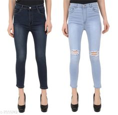 Checkout this latest Jeans Product Name: *VAP Store Blue High Waist Skinny Fit Women Denim Jeans* Fabric: Denim Multipack: 2 Sizes: 30, 34 Country of Origin: India Easy Returns Available In Case Of Any Issue   Catalog Rating: ★4 (484)  Catalog Name: Stylish Feminine Women Jeans CatalogID_1210806 C79-SC1032 Code: 247-7509742-8991