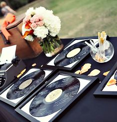 super fun guest book that will look awesome on the wall--I want this for my baby shower! My daughter's room is going to be music themed! Wedding Guest Book, Wedding Blog, Diy Wedding, Dream Wedding, Wedding Ideas, Wedding Ceremony, Fall Wedding, Old Records, Vinyl Records