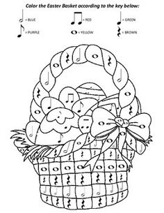 Christmas color by music note worksheets music for Music theory coloring pages