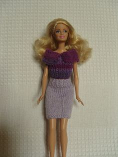 Tenue pour poupée Barbie jupe et top : Jeux, jouets par aux-fils-du-bocage
