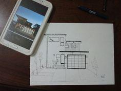 Desenho de Casas em nanquim por HeidePI-Arki