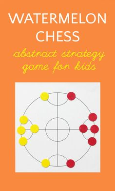 Help your kids learn important skills by teaching them how to play Watermelon Chess, aka Xi Gua Qi, a traditional abstract strategy game from China. Fun Card Games, Card Games For Kids, Games For Teens, Activity Games, Math Games, Activities For Kids, Therapy Activities, Maths, Family Game Night