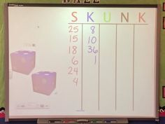 Middle School Math Rules!: #mtboschallenge Week 5: SKUNK and Other Favorite Math Games
