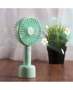 Personal Fan by Insten Small Portable Handheld Fan Aroma Cooling Fan Battery Operated USB with Desk Stand Base Mode for Traveling Home Office Indoor Outdoor Camping - Mint Green Window Fans, Pedestal Fan, Personal Fan, Portable Fan, Hand Held Fan, Gadgets, Camping Lights, Aroma Diffuser, Power Led