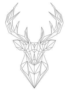 Steel Geometric Deer Wall Art