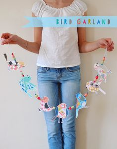 DIY Bird Garland - The Ink Nest Blog