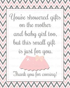 Baby Shower Printable Thank You Favor Sign by CelebrateLifeCrafts