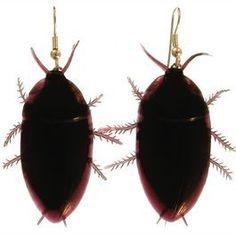 Roach Earrings in Brown. Roaches, Beetlejuice, Best Deals, Brown, Earrings, Jewelry, Creepy, Lord, Fun