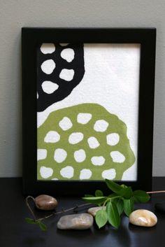 Lotus Pod Hand Printed Framed Textile #craftland Lotus Pods, Textile Prints, Seeds, Framed Prints, Printed, Nature, Crafts, Etsy, Art