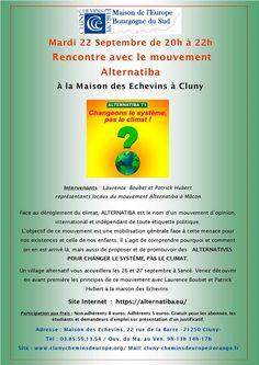 Conférence avec Alternabita par Cluny chemins d'Europe le mardi 22 septembre 2015 à Cluny.