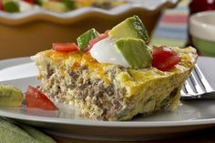 Crustless Taco Pie   EverydayDiabeticRecipes.com