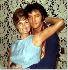 This is the ORIGINAL color photo of Elvis and a female fan backstage at the International Hotel in Las Vegas, NV in August 1969.