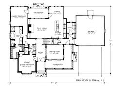 Looking for the best house plans? Check out the Stone Creek plan from Southern Living. Porch House Plans, Basement House Plans, Cottage House Plans, Craftsman House Plans, Best House Plans, Dream House Plans, Small House Plans, House Floor Plans, Craftsman Style