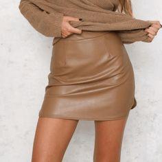 98d4c47ba9 Layla Leather Look Mini Skirt