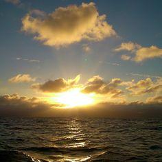 Sun rising above the Irish sea
