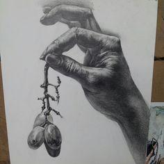 손 소묘 drawing