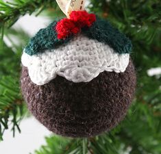 Christmas Pudding Bauble ...free pattern