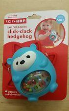 Skip Hop Explore and More Click Clack Toy, Hedgehog, 6M+, New