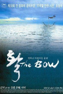 the bow,  interesting movie about a man who raises a girl on his boat since she was a child and is going to marry her when she turns 17. but no, really.  its a really cool movie