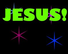 Free Animated active glitters Christian gif | Name of Jesus (1) -- Free Christian Animated Gif Image