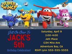 Super Wings Printable JPEG PDF Digital File Birthday Invitations   eBay
