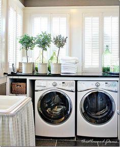 I love tidy laundry rooms                                                                                                                                                     Plus