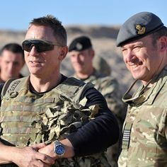 Danial Craig visited British troops in Afghanistan today for special showing of Skyfall