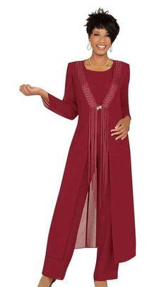 2019 Three Piece Crimson Mother Of The Bride Pant Suits With Jacket Chiffon Cust. - - 2019 Three Piece Crimson Mother Of The Bride Pant Suits With Jacket Chiffon Custom Made Long Sleeve Wedding Guest Dress Outfit Source by dipint Mother Of The Bride Suits, Mother Of Bride Outfits, Mother Of Groom Dresses, Mothers Dresses, Petite Dresses, Sexy Dresses, Dress Outfits, Evening Dresses, Formal Dresses