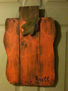 Lyndsey's Craft Spot: Pallet Pumpkin...