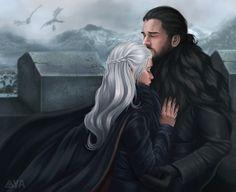 Jon Snow and Daenerys Targaryen from season 8 - Game of Thrones Jonerys Arte Game Of Thrones, Game Of Thrones Artwork, Game Of Thrones Fans, Jon Snow And Daenerys, Winter Is Here, Winter Is Coming, Daenerys Targaryen Art, Khaleesi, Tragic Love Stories