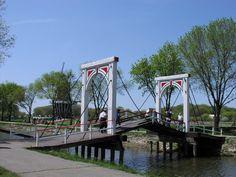 Dutch Drawbridge at Windmill Island Gardens, Holland, MI