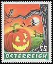 Halloween postage stamp from Austria.  Cl: Little Owl (Athene noctua) SG 2778 (2005) 160  [5/8]
