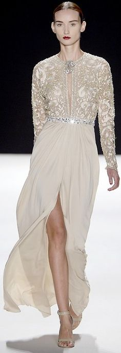 Naeem Khan Esquisite Haute Couture Gown Spring 2013
