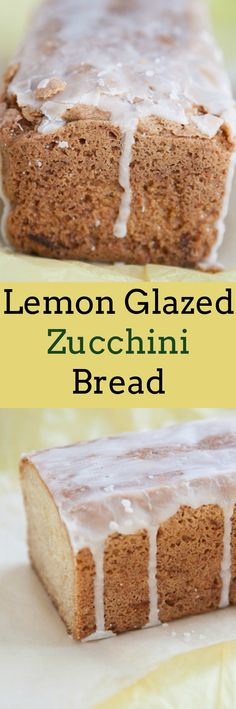 ... Lemon Glaze Zucchini Bread! It uses 2 cups of raw grated zucchini