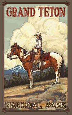 Grand Teton National Park Summer Cowgirl