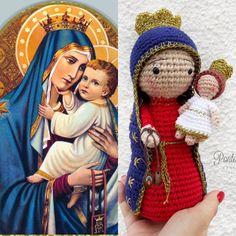 Denise Savard's media content and analytics Crochet Pig, Free Crochet, Knitted Dolls, Crochet Dolls, Craft Patterns, Doll Patterns, Amigurumi Patterns, Crochet Patterns, Catholic Crafts