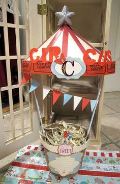 Circus party wishing well  use for bday cards
