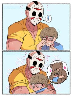 Horror Movies Funny, Horror Films, Scary Movies, Horror Icons, Horror Comics, Michael Myers, Cute Comics, Funny Comics, Scary Movie Characters
