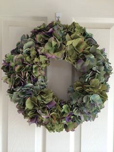 Hydrangea Wreath by BlossomsTwo on Etsy
