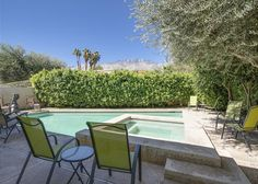 A study in classic white and unexpected design, our mod cul-de-sac vacation rental house is uniquely Palm Springs - Turnkey Vacation Rental Palm Springs Vacation Rentals, Vacation Home Rentals, Outdoor Furniture Sets, Outdoor Decor, Private Pool, Classic White, View Photos, Study, Patio